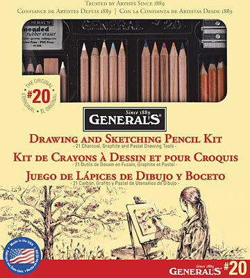 Drawing & Sketching Pencil Kit by General's