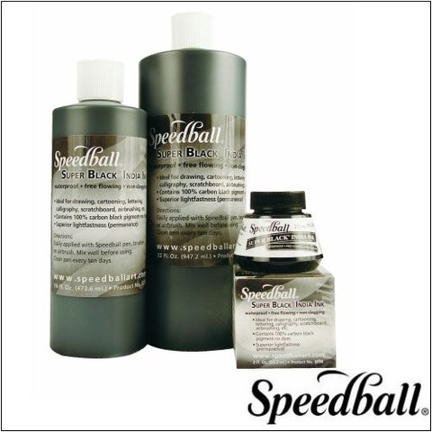 Super Black India Ink by SpeedBall