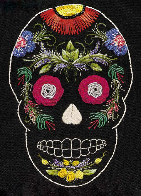 """Jackie"" Sugar Skull Brazilian Embroidery Kit by EdMar"