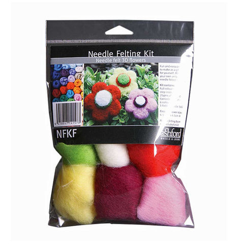 3D Flowers Needle Felting Kit by Ashford