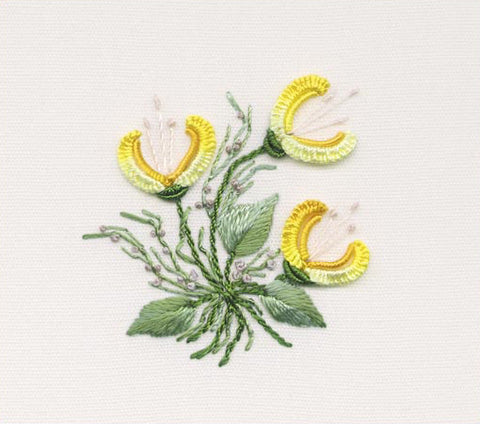 """Three Jasmines"" Brazilian Embroidery Kits by EdMar"