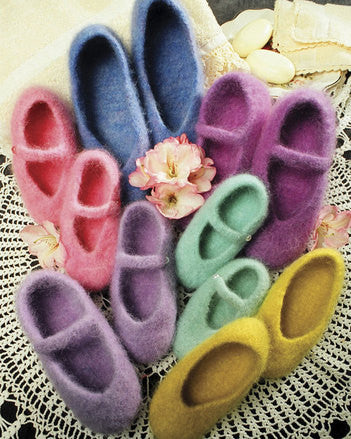 Fiber Trends® Felt Ballet Slippers Pattern by Bev Galeskas