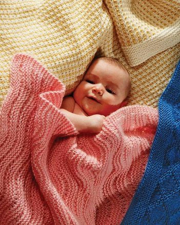 Easy Knit Baby Blankets Collection 1