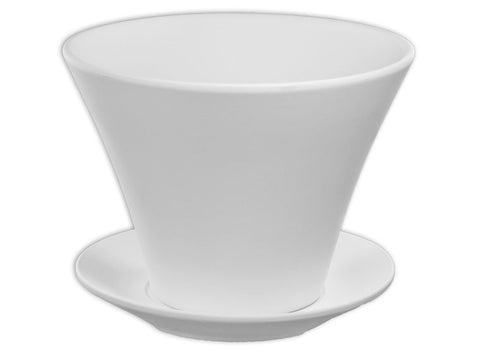 Angled Flowerpot with Tray