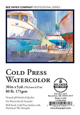 Cold Press Watercolor 80 lb. (171 gsm) by Bee Paper