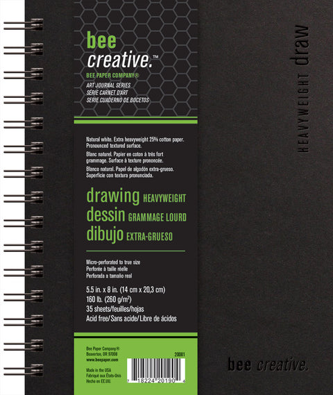 Bee Creative Heavyweight Draw Art Journals in 3 Sizes