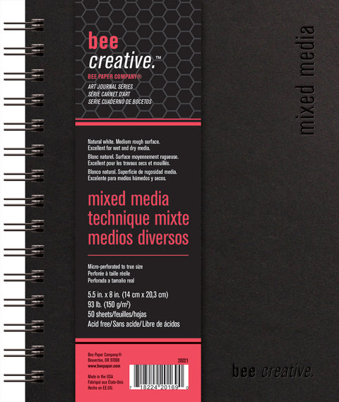 Bee Creative Mixed Media Art Journals in 3 Sizes