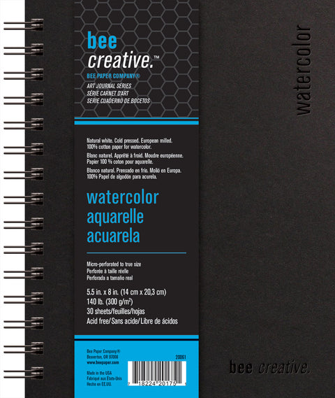 Bee Creative Watercolor Art Journals in 3 Sizes
