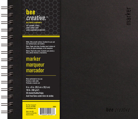 Bee Creative Marker Bee Art Journals in 3 Sizes