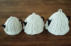 Braided Cable Tea Cosies