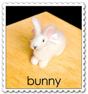"""Bunny"" Needle Felting Easy Kit by WoolPets"