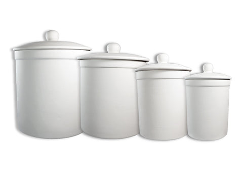 Canisters: Sm, Med, Lg, XL