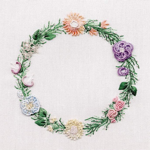 """Circle of Flowers"" Brazilian Embroidery Kit by EdMar"