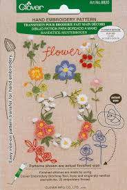Hand Embroidery Patterns by Clover