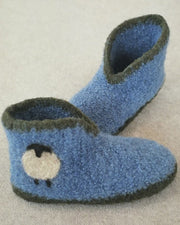 Suede Slipper Bottoms, Two Piece