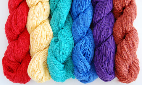"ALL 3 COLORPACKS: """"Soulstice Lace™ 6 Skein Earth Tones, Jewel Tones, & Rainbow Packs"