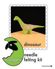 """Dinosaur"" Needle Felting Easy Kit by WoolPets"