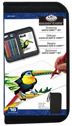 Keep 'N Carry Colored Pencil Draw Set & Case by Royal & Langnickle