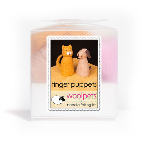 """Finger Puppets"" Needle Felting Starter Kit w/ Pad by WoolPets"