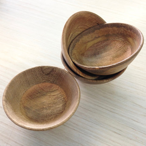 Hand-Turned Exotic Wood Spindle Bowls