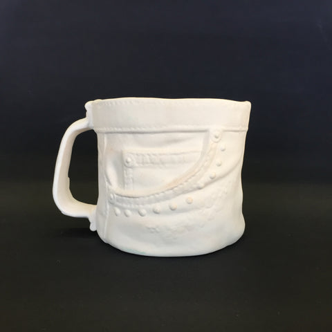 Short Vintage Denim Mug