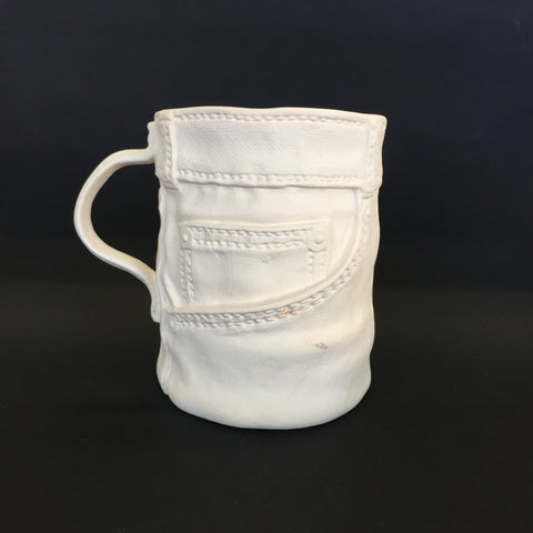 Large Vintage Denim Mug