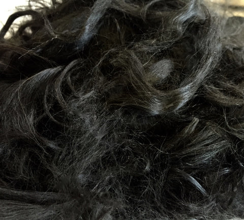 Black Alpaca Locks, Raw Suri