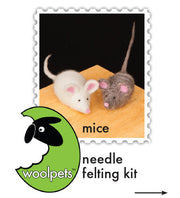 """Mice"" Needle Felting Easy Kit by WoolPets"