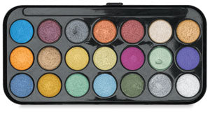Pearlescent Watercolor Compact, 16 or 21 Colors
