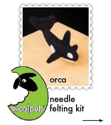 """Orca"" Needle Felting Easy Kit by WoolPets"