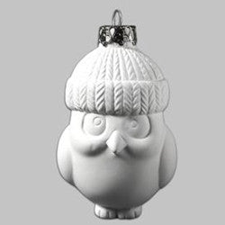 Owl In Snow Hat Ornament