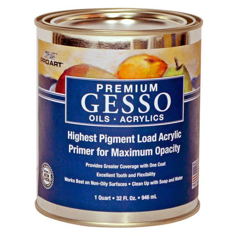 Pro Art Premium White Gesso for Oils & Acrylics
