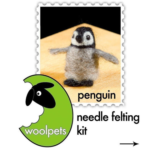 """Penguin"" Needle Felting Easy Kit by WoolPets"