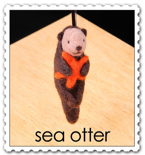 """Sea Otter"" Needle Felting Easy Kit by WoolPets"