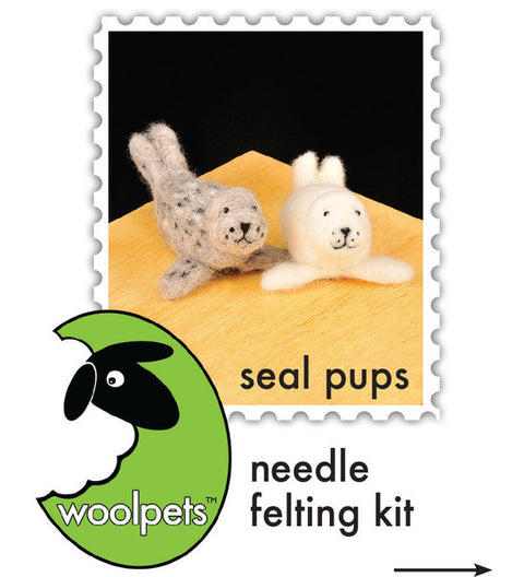 """Seal Pups"" Needle Felting Easy Kit by WoolPets"
