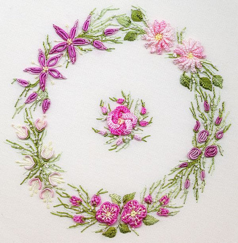 """Spring Wreath"" Brazilian Embroidery Kit by EdMar"