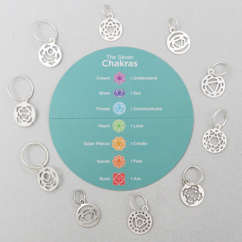 The Mindful Collection: Sterling Silver Plated Chakra Stitch Markers