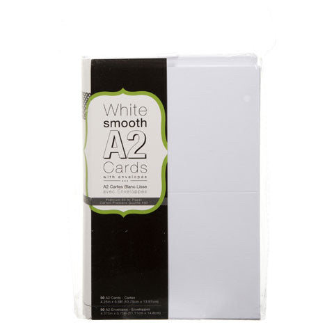 A2 & A7 White or Ivory Smooth Cards & Envelopes by Darice