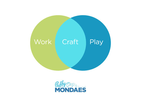 Work Craft Play Tee, Youth Sizes, in Green/Blue,