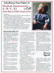 Adult, Baby, & Child's Surprise Jacket Pattern by Elizabeth Zimmerman