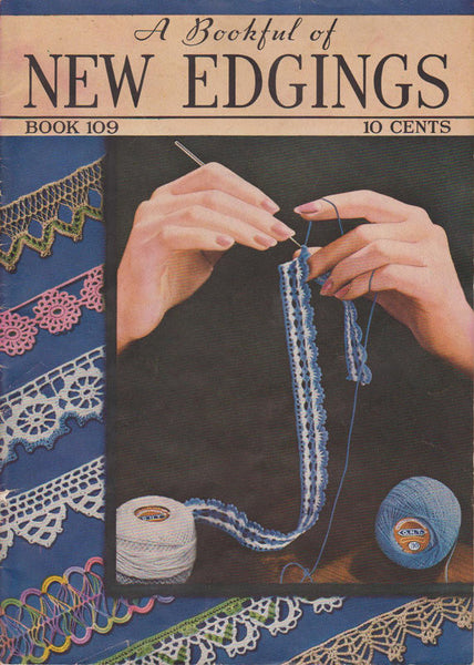 A Book Full of New Edgings, Vintage Crochet Booklet: 1937