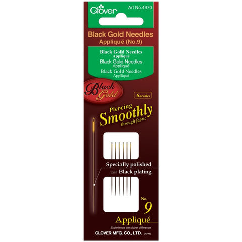 Clover Black Gold Hand Sewing Needles: Applique / Sharps