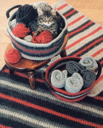 Crocheted Felt Rug & Basket