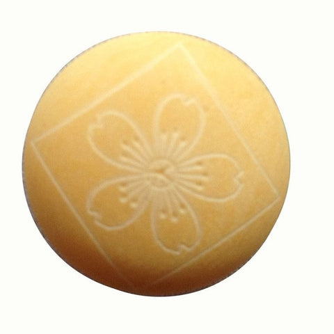 Light Yellow Engraved Bone Shank Button, 1/2""