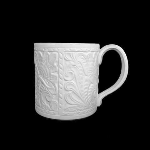 Tooled Leather Vintage Mug