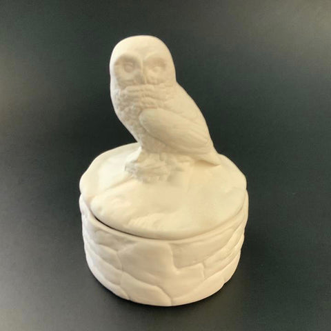 Owl on Stones Box
