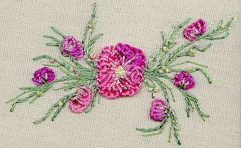 """Peach Blossom"" Brazilian Embroidery Kit by EdMar"