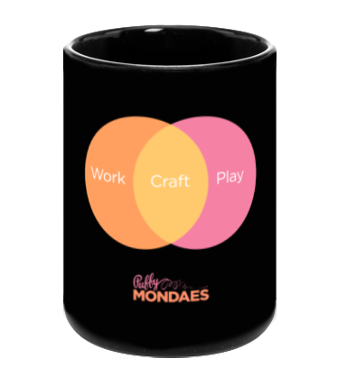 Work Craft Play Mug in Peach/Orange
