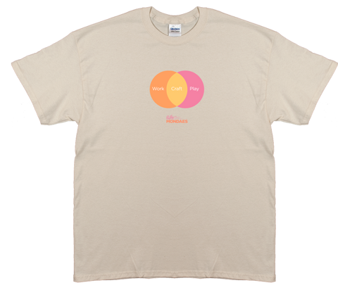 Work Craft Play Tee in Peach/Orange