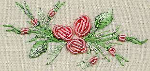 """Rolled Roses"" Brazilian Embroidery Kit by EdMar"